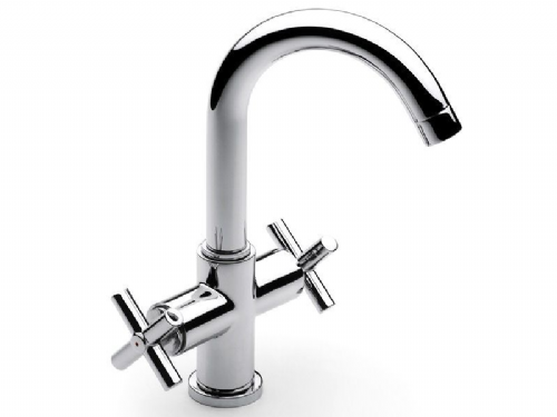 Roca Loft Mono Basin Mixer Tap With Pop Up Waste Flexible Hose